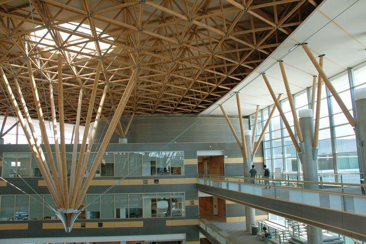 Space Truss Le Stick Space Truss Atrium Architecture