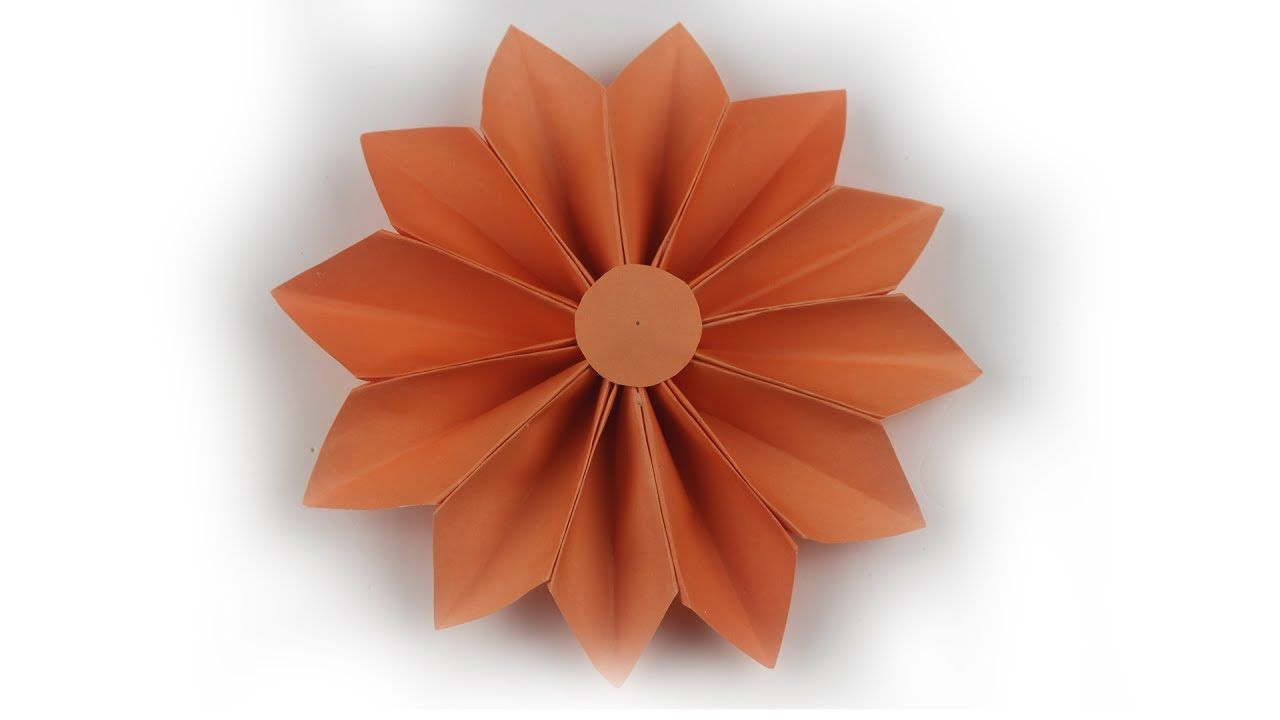 Origami Flower For Wall Decoration Home Decorating Ideas Small