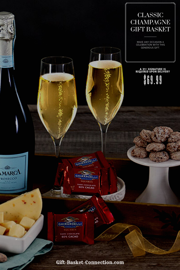 Classic Champagne Gift Basket Champagne gift baskets