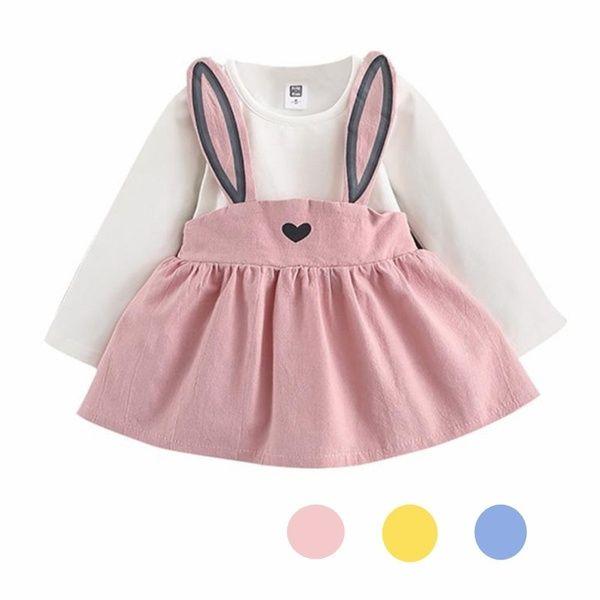 Photo of Baby Infant Girls 0-3 Years Old Cute Rabbit Ear Dress Bandag…