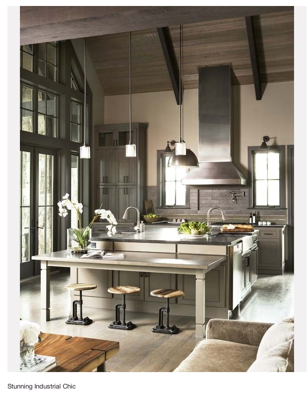 awesome industrial style kitchen | 30 Cool Industrial Design Kitchens