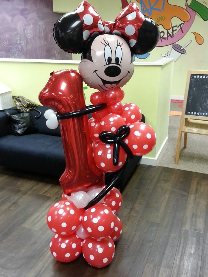 Minnie mouse balloons google search balloon ideas for Balloon decoration minnie mouse