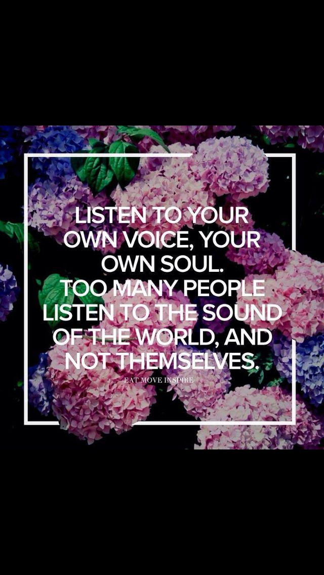 Listen to yourself! From Eat Move Inspire on Instagram