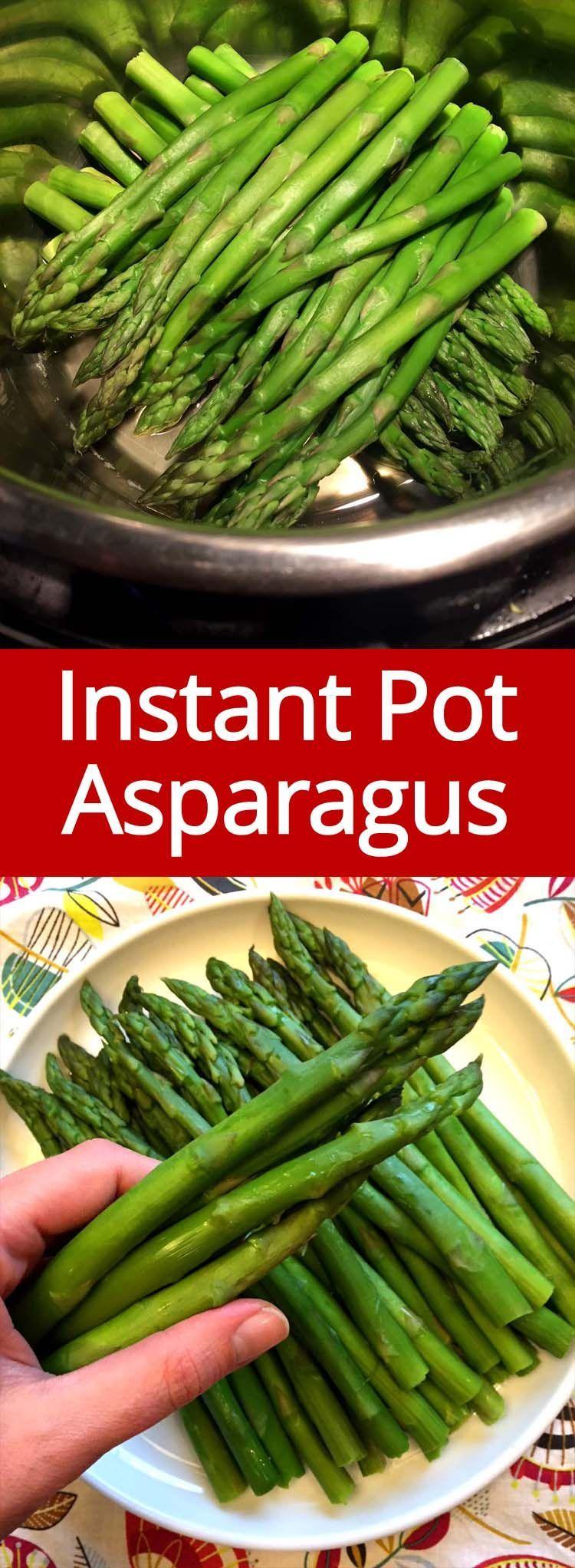 Photo of Instant Pot Asparagus – Pressure Cooker Steamed Asparagus Recipe
