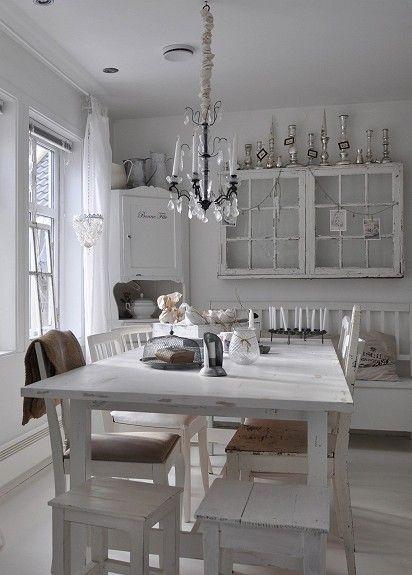 NYE BILDER gamle møbler og interiør i shabby chic, vintage stil - shabby chic küchen
