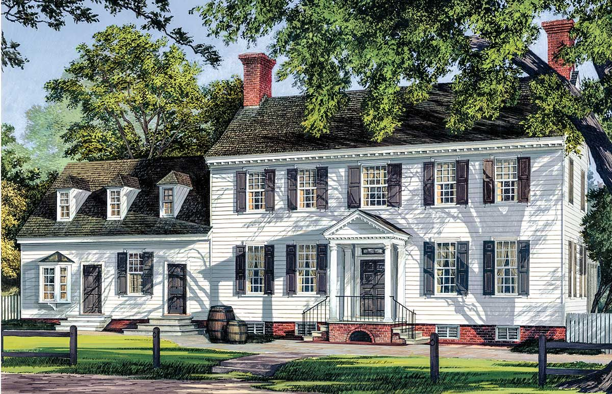 Plan 32519wp Private Master Suite Colonial House Plans Colonial House Beach Style House Plans