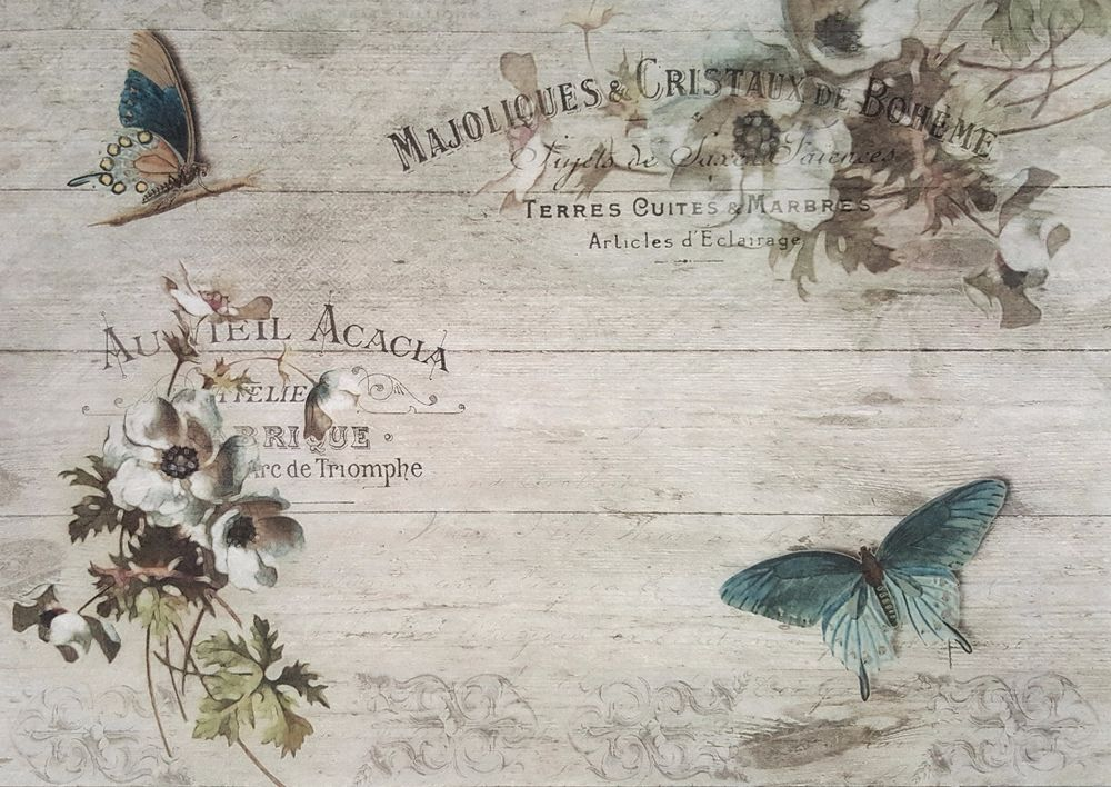for Decoupage Scrapbooking Vintage Acacia Sheet of Rice Paper