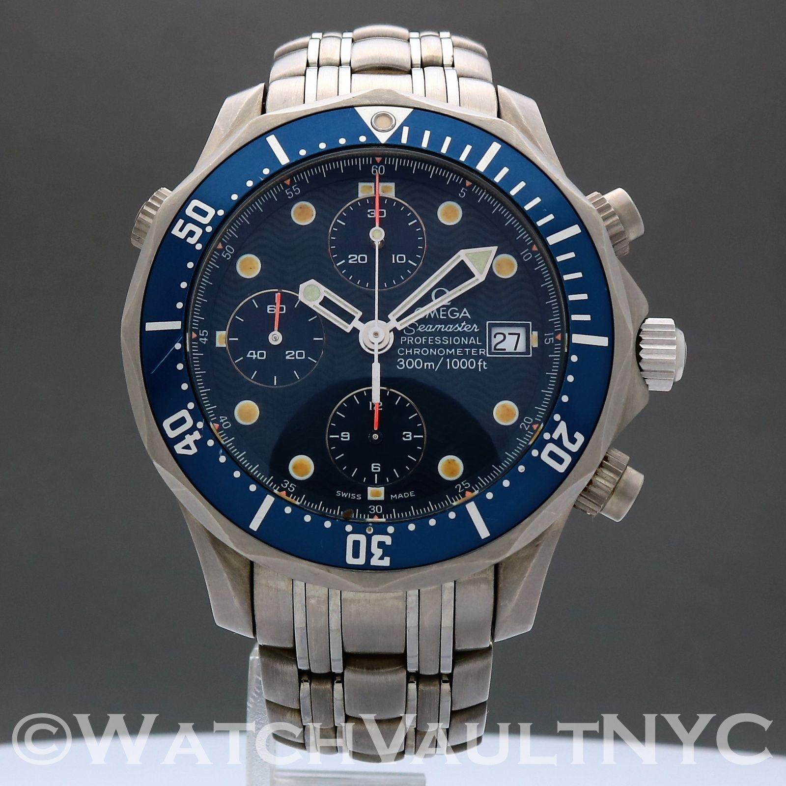 Omega Seamaster Professional 300m Chrono Titanium James Bond Omega Seamaster Professional Omega Seamaster James Bond Watch