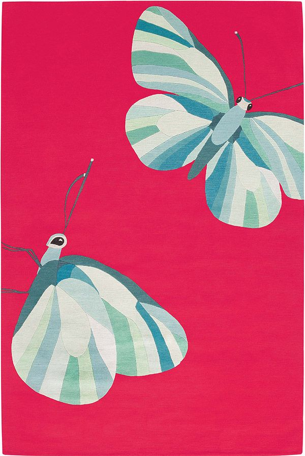 Butterfly Pink by Edward Barber & Jay Osgerby for The Rug Company