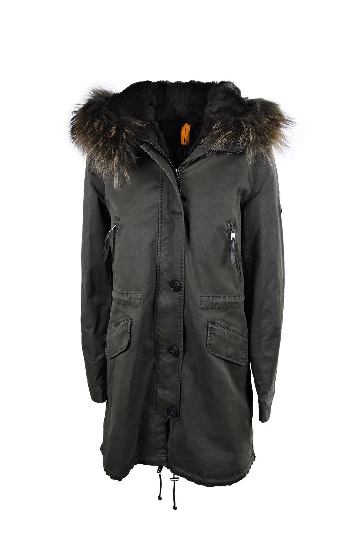 Aspen Total Fur Coat In Night Green Dtm Parka Coat Winter Jackets