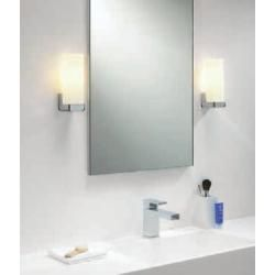 Photo of Astro Lighting wall lamp, mirror lamp, chrome, opal glass, square, 1-flame Taketa 0775