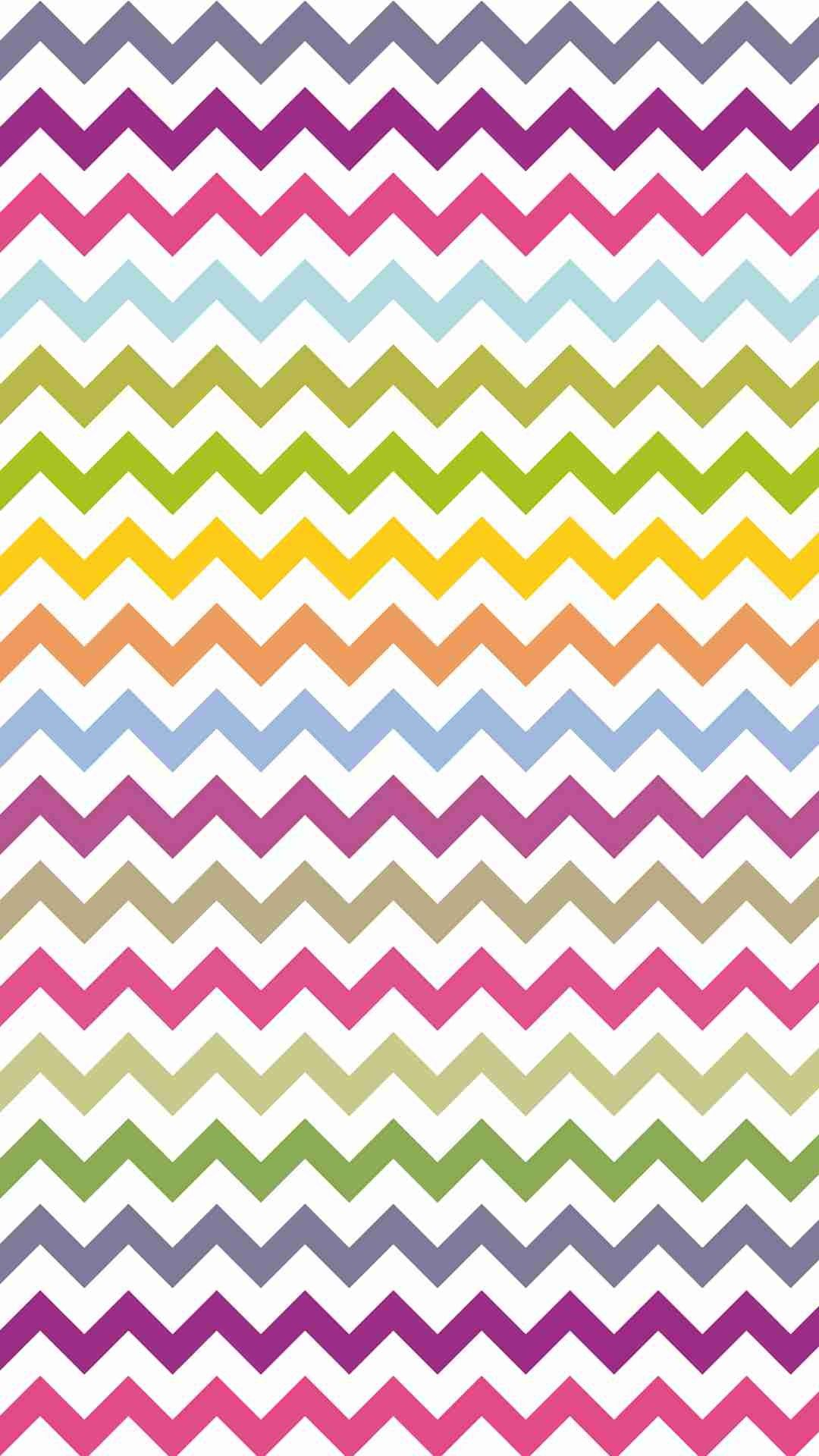 Bright Colors Zigzag And Chevron IPhone 6 Plus Wallpaper