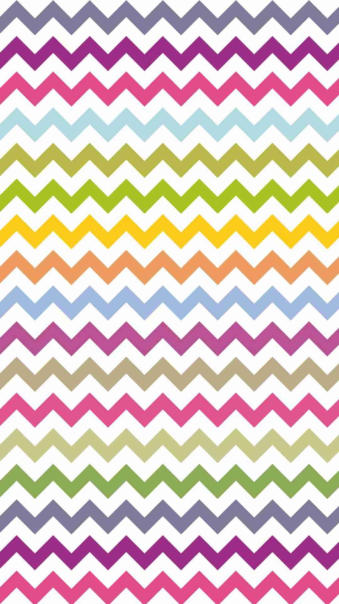 bright colors zigzag and chevron iphone 6 plus wallpaper