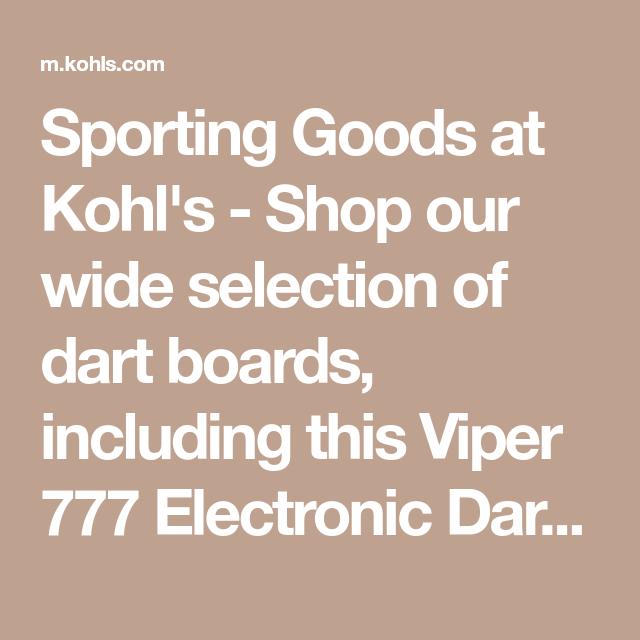 Viper 777 Electronic Dartboard Kohls Electronic Dart Board Dart Board Viper