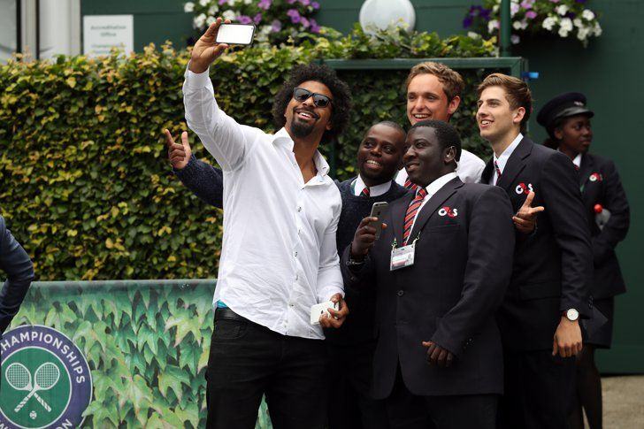 Pin for Later: It's Game, Set, and Match For These Wimbledon-Loving Celebs David Haye