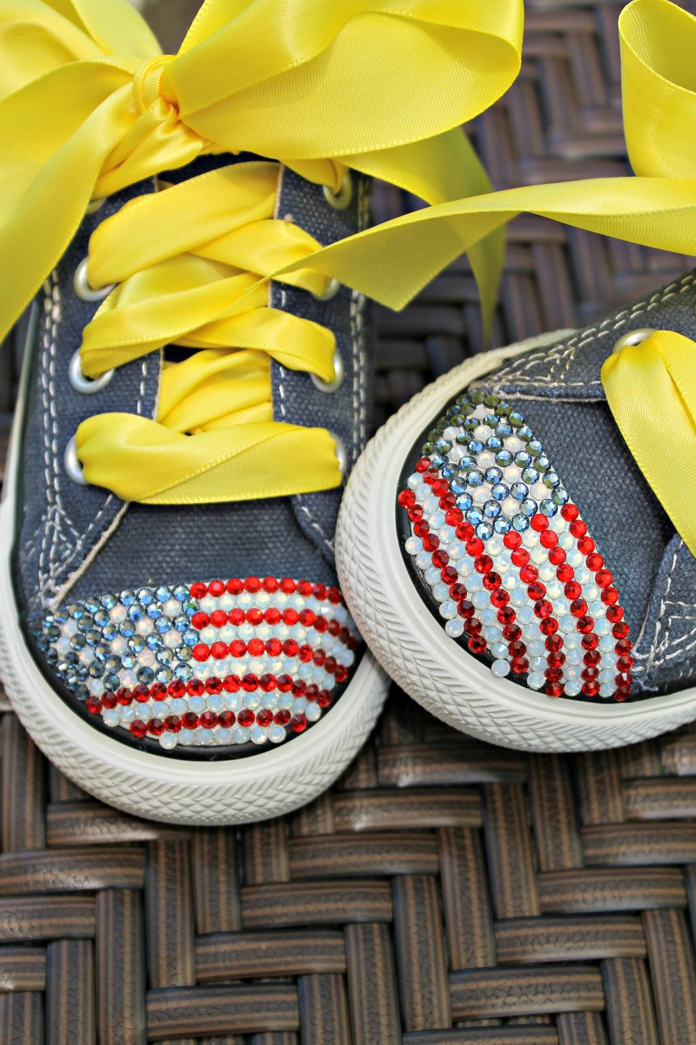 Red White and Blue American Flag Converse Shoes with par Shawniko Rhinestone  Shoes ebe1d2c8f