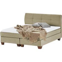 Photo of Boxspringbett – beige – 145 cm – 121,5 cm – Betten > Doppelbetten Möbel Kraft