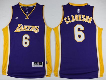 0b6317c9900 Los Angeles Lakers  6 Jordan Clarkson Revolution 30 Swingman Purple Jersey
