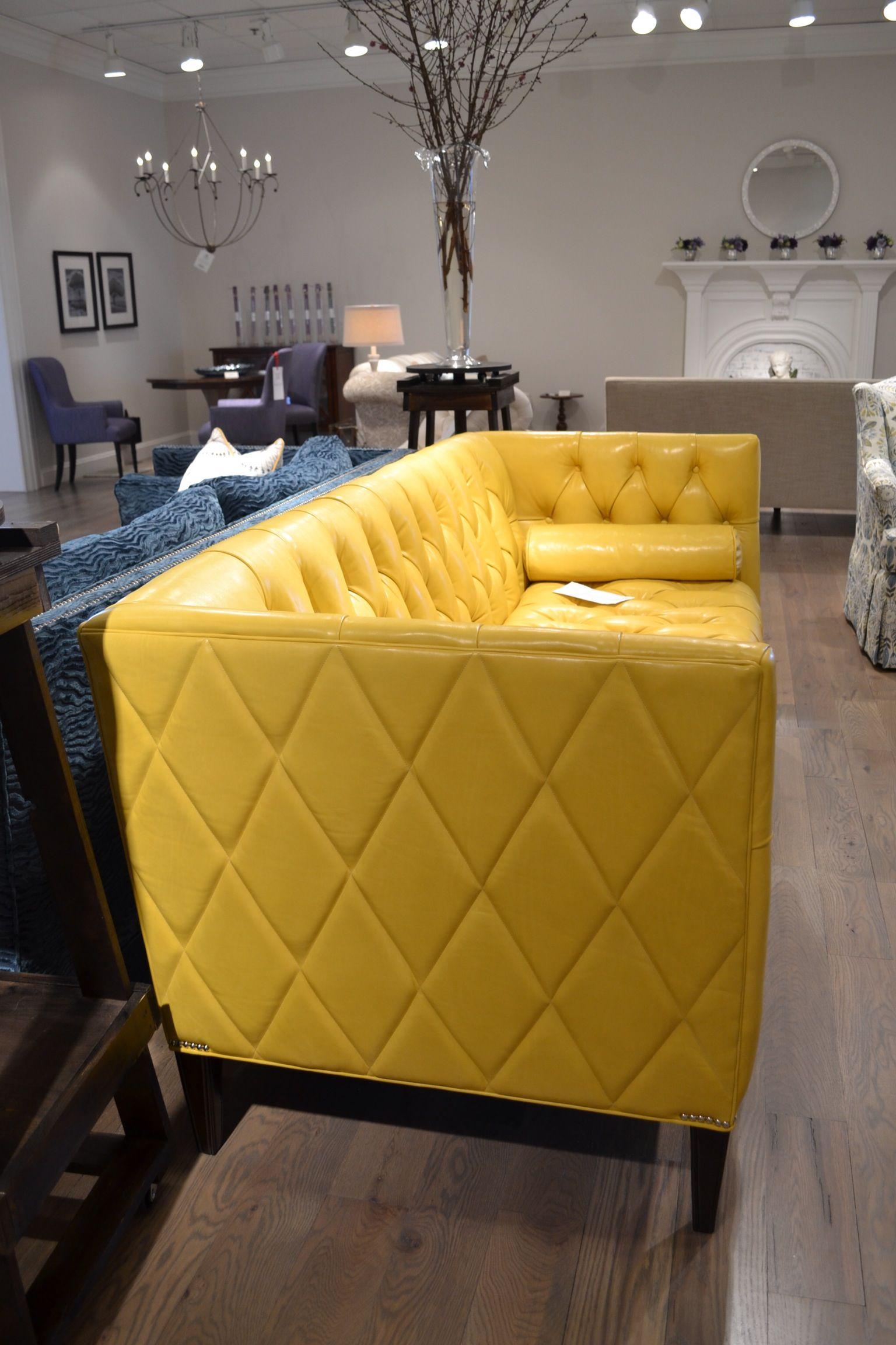 Love this tufted sofa! | Furniture | Pinterest | Colores, Amarillo y ...