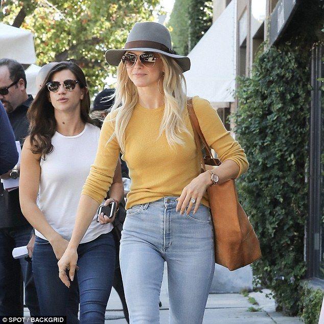 Julianne Hough grabs coffee with friends in West Hollywood #juliannehoughstyle