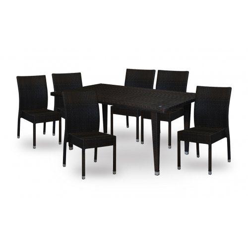 Комплект плетеной мебели Red and Black Милано №3 + 4 шт. 21251R