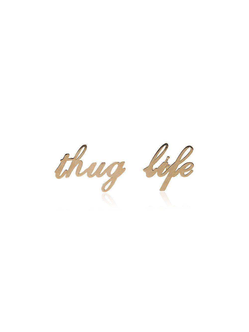 Established 14kt gold Thug Life ring - Metallic nAhhImJK