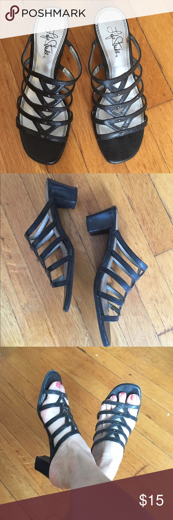 """Life Stride Super Comfy Sandals 2"""" block heels, in good condition. You can wear these sandals all day as they are super comfy & on trend! ✨Buy and two $15 or less items for $25 & save on shipping✨ Life Stride Shoes Sandals"""