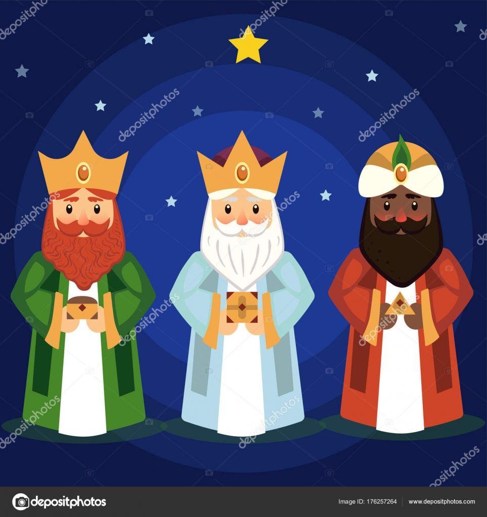 Descargar Ilustracion De Vector De Los Tres Reyes Magos Ilustracion De Stock Reyes Magos Dibujos Manualidad Reyes Magos Tres Reyes Magos