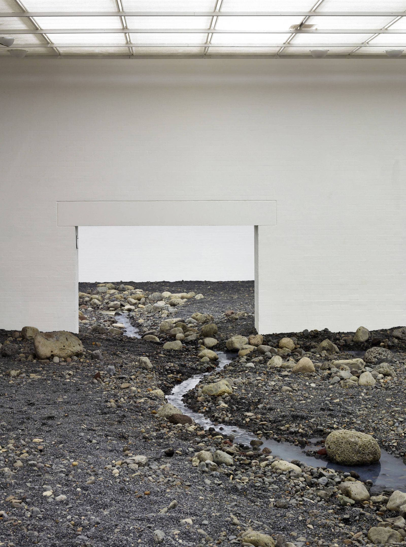 Olafur Eliasson installed a riverbed in a museum