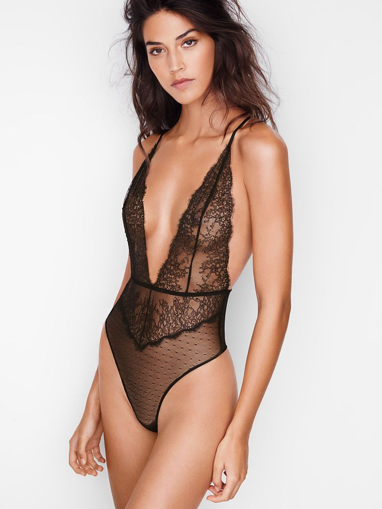 81c5f2b3641 Chantilly Lace Plunge Teddy - Very Sexy - Victoria s Secret