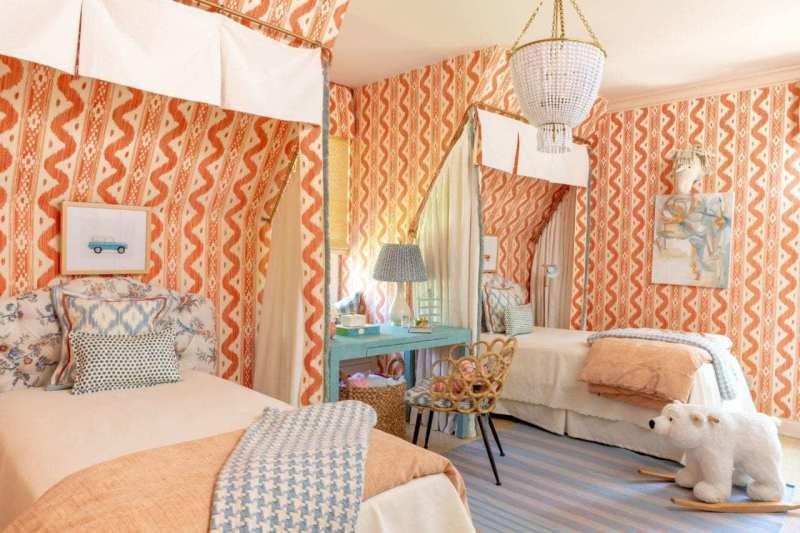 50 Fabulous Orange Rooms The Glam Pad Girls Bedroom Wallpaper Orange Rooms Kids Bedroom Designs