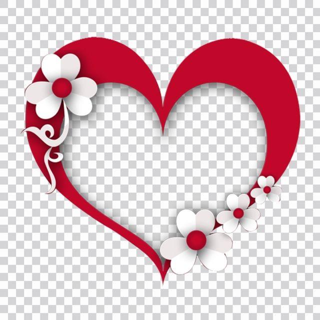 Millions Of Png Images Backgrounds And Vectors For Free Download Pngtree Heart Frame Valentine Paper Crafts Flower Frame