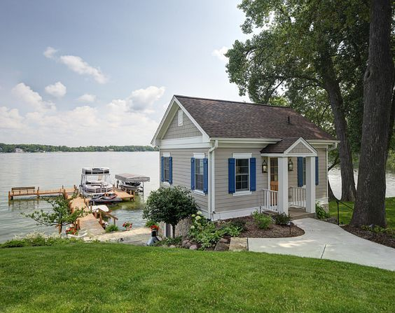 Lake Guest House Small Guest House By Lake Small Guesthouse Colby Construction Guest House Small House Exterior Architecture House
