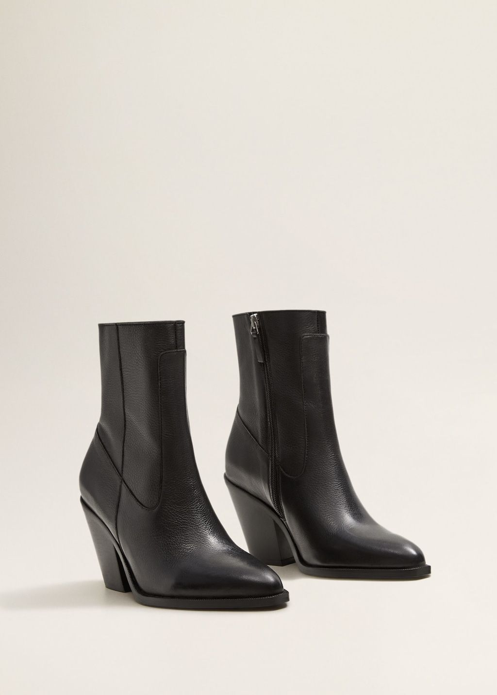 323c8f8a513 Leather pointed ankle boots - Women in 2019   >shoes.   Pointed ...