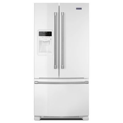 Maytag 21 7 Cu Ft 3 French Door Refrigerator Single Ice Maker White Mfi2269drh