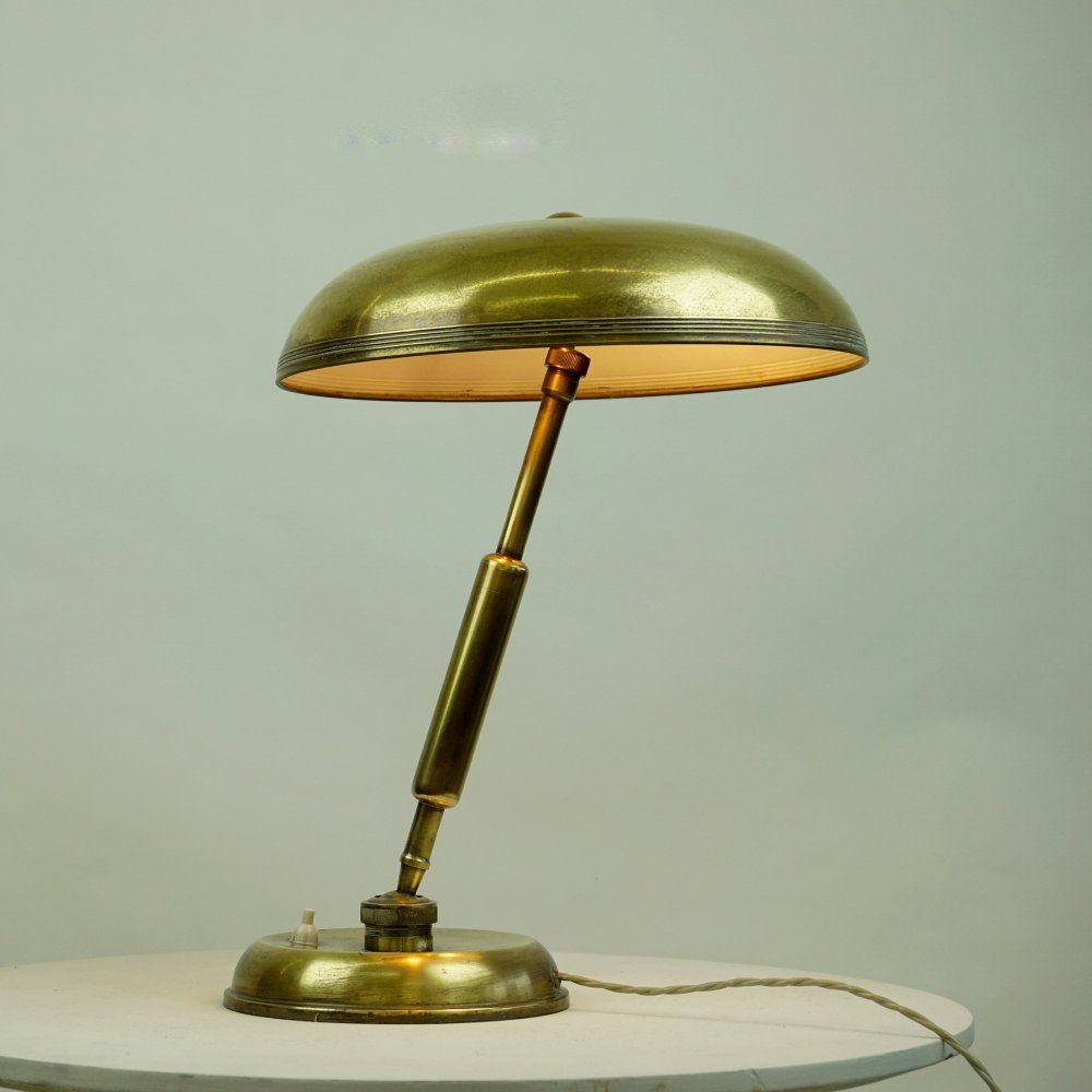 For Sale Italian Midcentury Brass Desk Lamp By Giovanni Michelucci For Lariolux Vntg Vintage In 2020 Desk Lamp Brass Desk Lamp Brass Desk