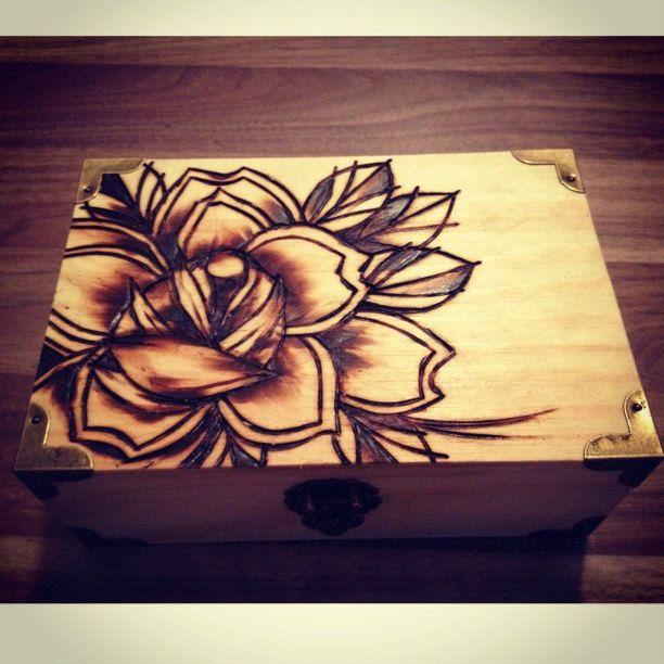 Pyrography Woodburning Traditional Rose Tattoo Flash 30 00 Via Etsy Wood Burning Art Wood Burning Wood Burning Crafts