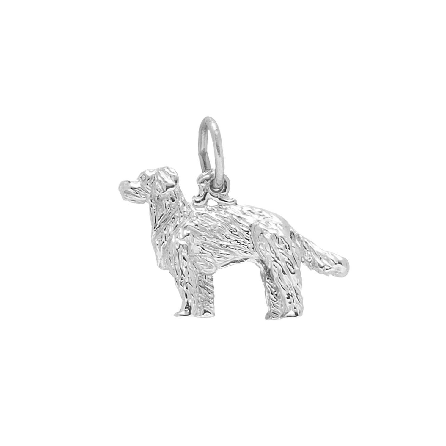 Golden Retriever Charm In Sterling Silver By Rembrandt Rembrandt