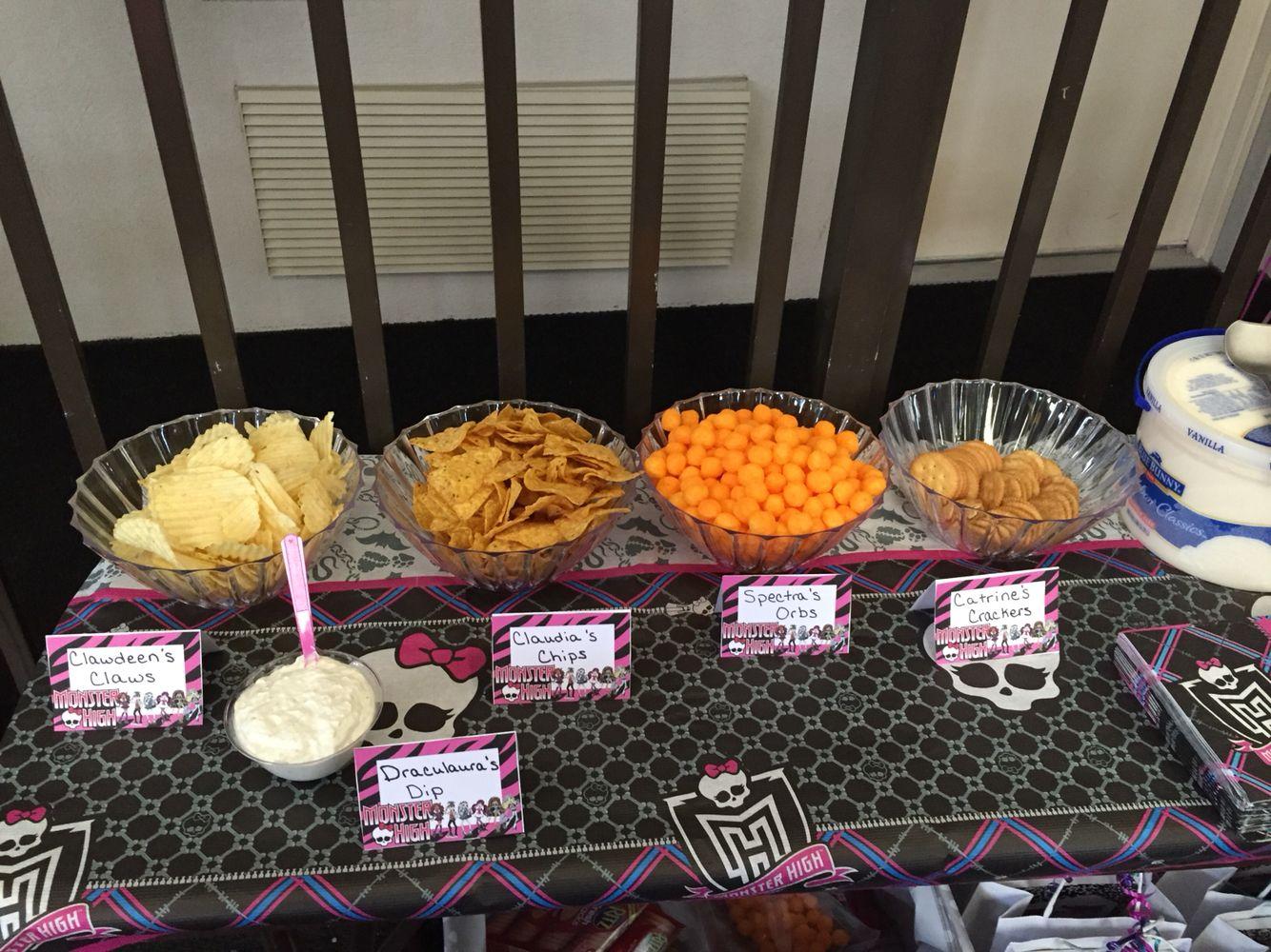 Monster High Foods Monster High Party Ideas Pinterest