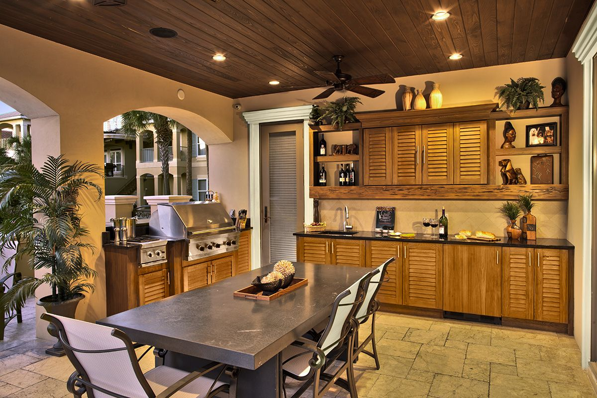Gorgeous Outdoor Kitchen Louver Cabinets A Little Piece Of Heaven Outdoor Kitchen Design Outdoor Kitchen Outdoor Cabinet