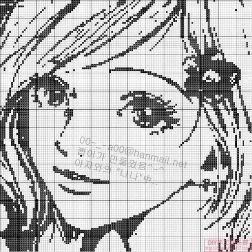 point de croix femme  - cross stitch girl,  woman