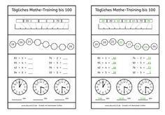 Tägliches Mathe-Training | Schule Mathe | Pinterest | kostenlose ...