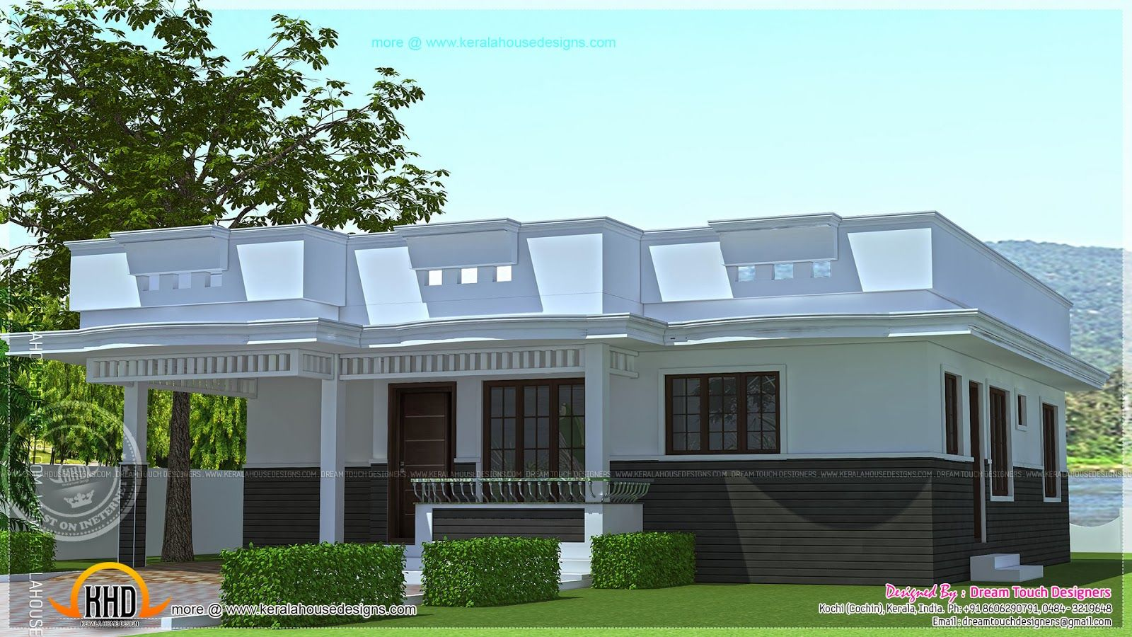flat roof small house designs house design ideas kerala style single floor house plan square meters - Single Floor House Plans