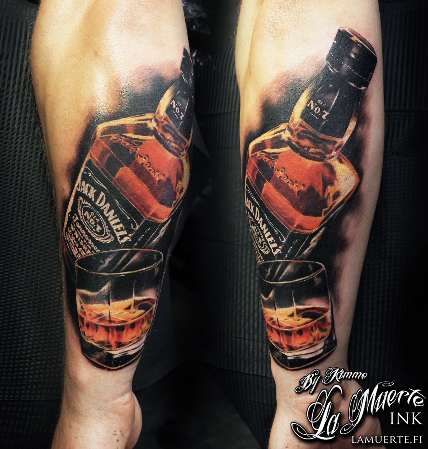 jack daniels tattoo by kimmo angervaniva la muerte ink tattoos by kimmo angervaniva. Black Bedroom Furniture Sets. Home Design Ideas