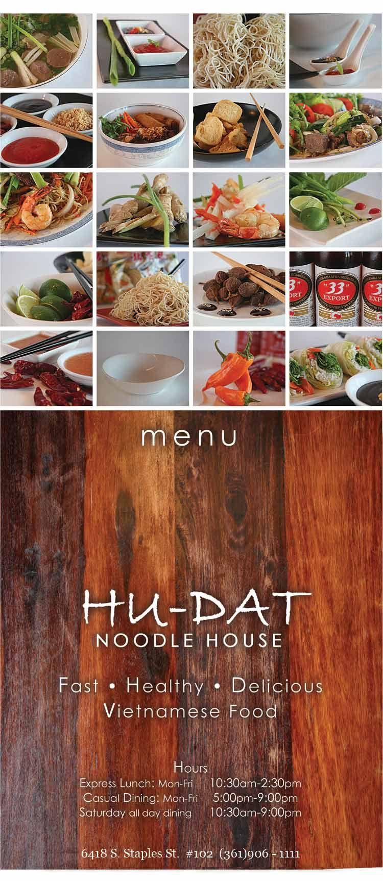 Hu Dat Noodle House Corpus Christi Restaurant Coastal Bend Menu Guide