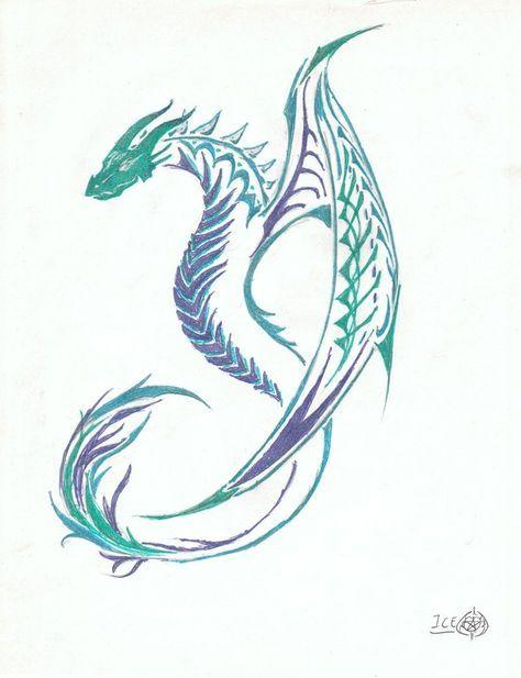 Water Dragon Tattoo Google Search Celtic Dragon Tattoos Small Dragon Tattoos Dragon Tattoo