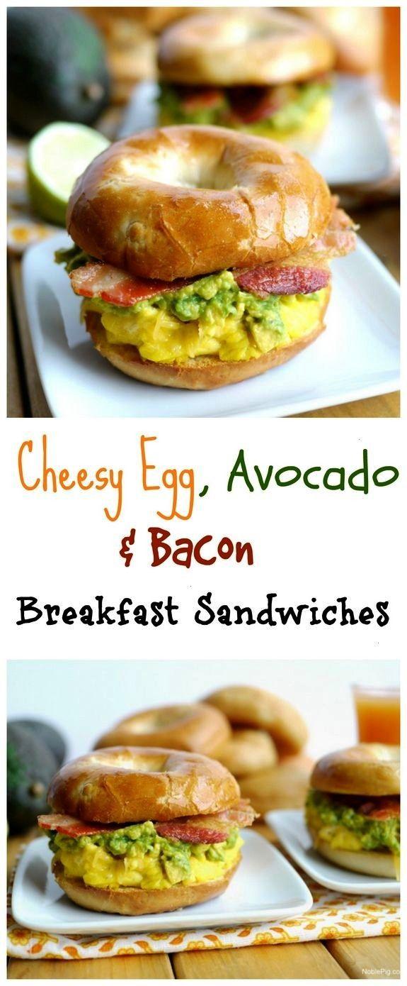 Egg, Avocado and Bacon Breakfast Sandwich Cheesy Egg Avocado and Bacon Breakfast SandwichesCheesy E