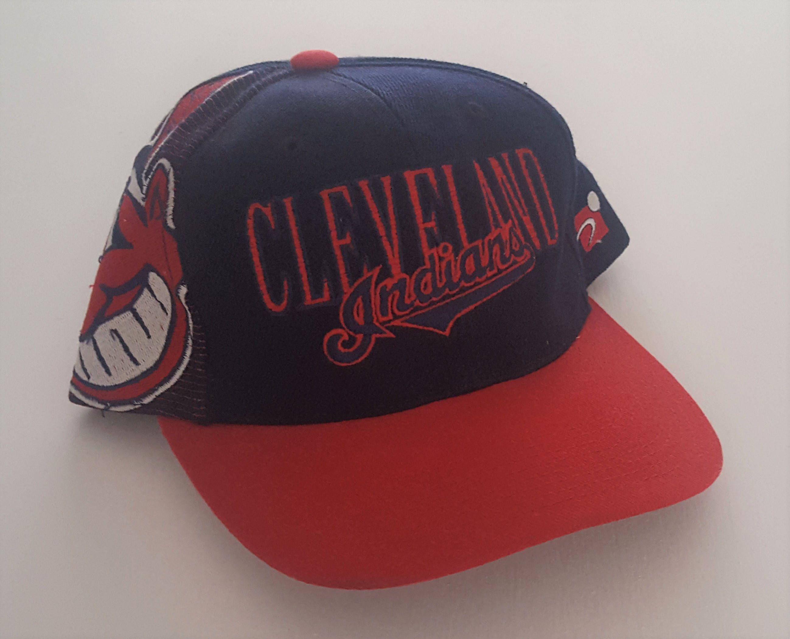 369d4eb2324564 Vintage Cleveland Indians Sports Specialties Snapback Hat MLB VTG by  StreetwearAndVintage on Etsy