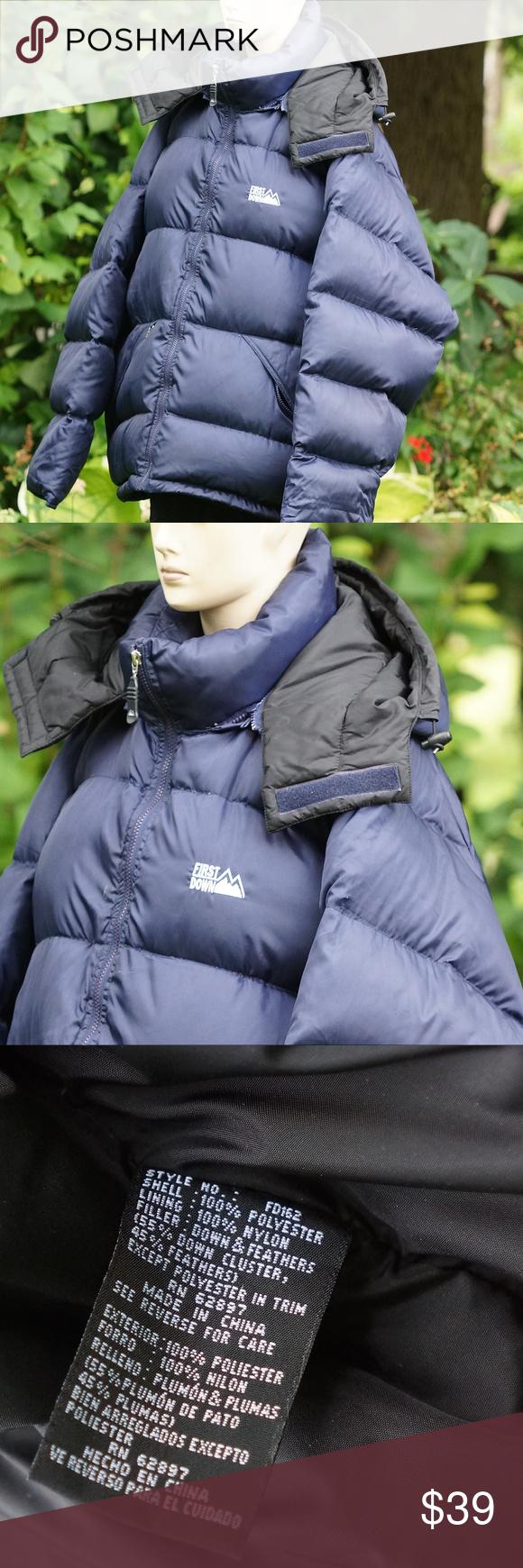 Mens Xxl Puffer Goose Down Winter Coat Blue Blue Winter Coat Down Winter Coats Winter Puffer Jackets [ 1740 x 580 Pixel ]