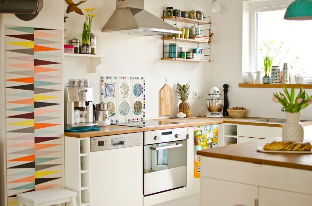 Kitchen with Ikea brakig Wallpaper | Küche | Pinterest | Ikea ...